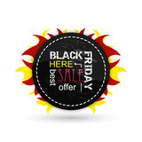 Black friday  icon. Royalty Free Stock Photos