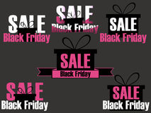 Black Friday icons and labels set. Stickers on sale Black Friday. Royalty Free Stock Image