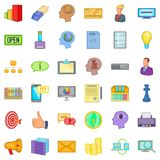 Black friday icons set, cartoon style Stock Photography