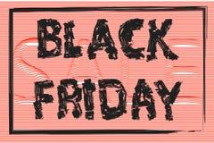 Black Friday, il testo è scritto con una spazzola, insegna di vendita, posteriore Fotografie Stock