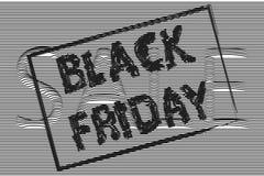 Black Friday, il testo è scritto con una spazzola, insegna di vendita, posteriore Fotografie Stock Libere da Diritti