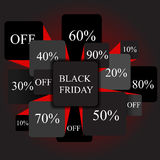 Black friday. info-graphic elements. sale. stock  Royalty Free Stock Photos