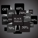 Black friday. info-graphic elements. sale. stock  Royalty Free Stock Image