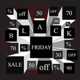 Black friday. info-graphic elements. sale. stock  Stock Images