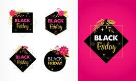 Black Friday, insegna di vendita di Natale, modello del manifesto illustrazione di stock