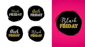 Black Friday, insegna di vendita di Natale, modello del manifesto royalty illustrazione gratis
