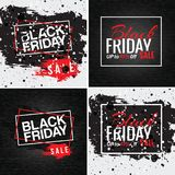 Black friday - instagram Stock Image