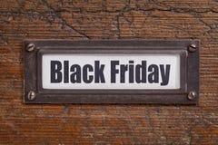 Black Friday kartoteki etykietka Zdjęcia Royalty Free