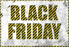 Black friday label in grunge style Royalty Free Stock Photo