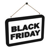 Black friday. Label handing on white background, sale offers and  specific discounts Royalty Free Stock Photos