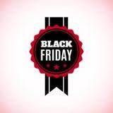 Black Friday label isolated on white background. Stock Images