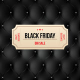 Black friday label Stock Photos