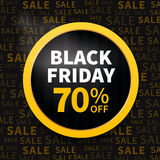 Black friday label. Black friday poster sale on typography background Stock Photo