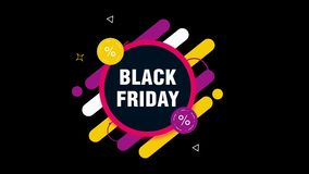 Black Friday label. vector illustration
