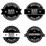 Black Friday labels Royalty Free Stock Photos