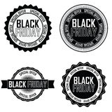 Black Friday Labels Stock Photo