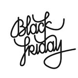 Black Friday lettering. Black Friday calligraphy text. Design. Flat design idea usable for posters, banners and web Royalty Free Stock Photo
