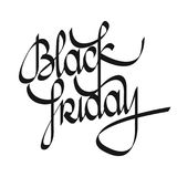 Black Friday lettering. Black Friday calligraphy text. Design. Flat design idea usable for posters, banners and web Stock Image