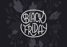 Black Friday lettering on dark background Royalty Free Stock Images