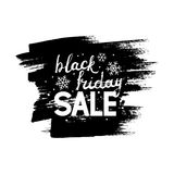 Black friday lettering Royalty Free Stock Photography