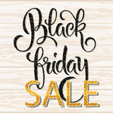 Black Friday lettering with shiny glitter texture vector illustration
