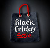 Black Friday lettering and shopping bag banner Royalty Free Stock Photos