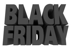 Black friday letters Royalty Free Stock Image