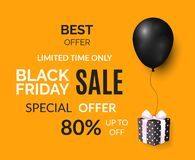 Free Black Friday Limited Time Only Poster With Gift Stock Photos - 136867883