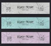 Black Friday, liquidación, venta, diseño de la plantilla de la bandera que hace compras Foto de archivo