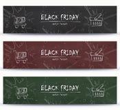 Black Friday, liquidación, venta, diseño de la plantilla de la bandera que hace compras Imagenes de archivo