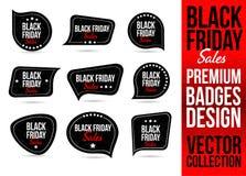 Black Friday Logo Badge ed emblema Fotografia Stock