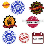Black Friday Logo stamp Royalty Free Stock Photo