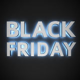Black Friday luminoso Fotografia Stock