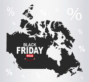 Black Friday Map - Canada Stock Image
