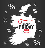 Black Friday Map - Ireland white Royalty Free Stock Photography