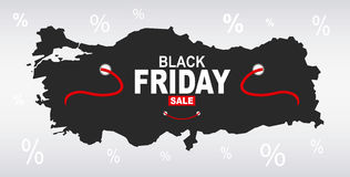 Black Friday Map - Turkey Stock Photography