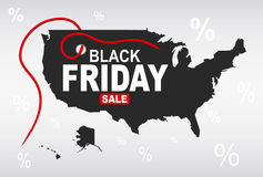 Black Friday Map - USA Royalty Free Stock Photography