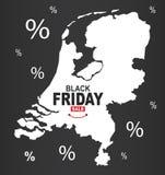 Black Friday mapa - holandie białe ilustracja wektor
