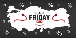 Black Friday mapa - Indyczy biel ilustracja wektor