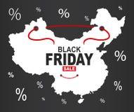 Black Friday mapa - Porcelanowy biel ilustracji