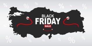 Black Friday mapa - Turcja royalty ilustracja