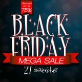 Black Friday mega sale design template Stock Images