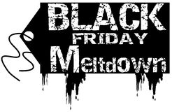 Black friday meltdown Stock Photo