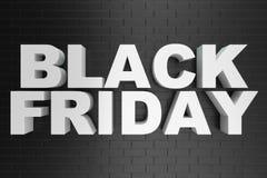 Black Friday, mensagem para a loja, desconto grande da venda texto 3d na cor preto e branco Projeto moderno Bandeira para o preto ilustração do vetor