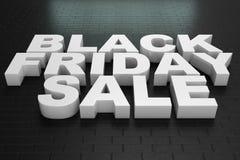 Black Friday, mensagem para a loja, desconto grande da venda texto 3d na cor preto e branco Projeto moderno Bandeira para o preto ilustração royalty free