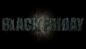 Black Friday On Metal Texture Stock Image