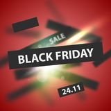 Black Friday modern abstract background. Sale banner. Vector illustration stock illustration