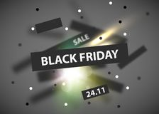Black Friday modern abstract background. Sale banner. Vector illustration royalty free illustration