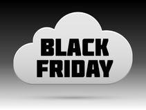 Black Friday molntecken med skugga Arkivbilder
