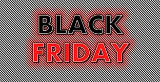 Black Friday neon red glow on strips background stock photos